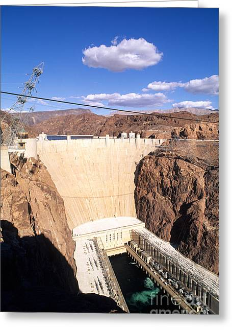 Water Powered Generator Greeting Cards - Hoover Dam Greeting Card by Bill Bachmann