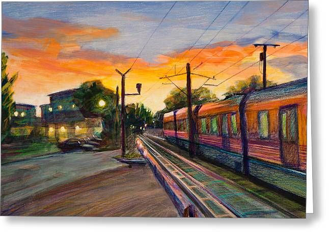 Train Tracks Greeting Cards - Hope Crossing Greeting Card by Athena Mantle