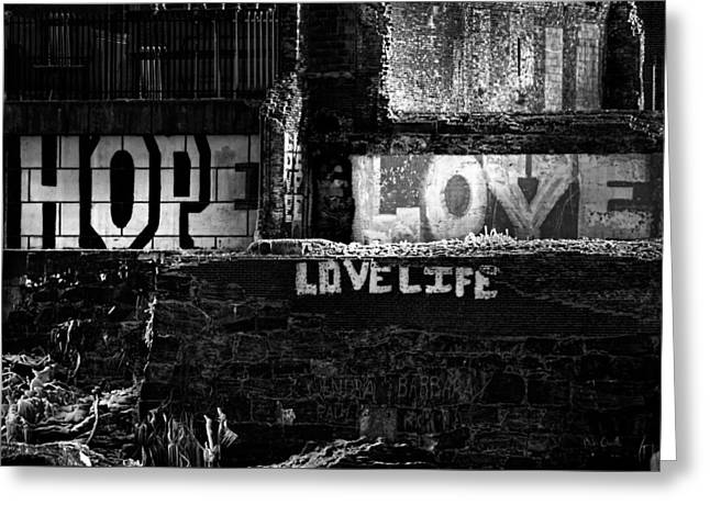 Androscoggin Greeting Cards - Hope Love Lovelife Greeting Card by Bob Orsillo