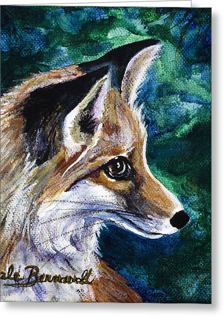 Hopeful Fox Greeting Card by Dale Bernard