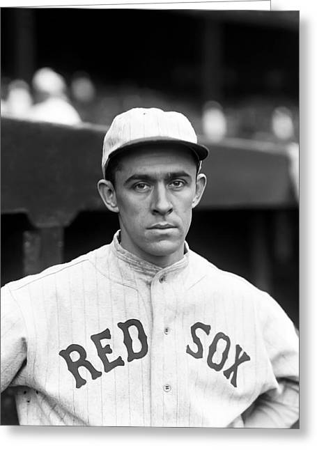 Boston Red Sox Greeting Cards - Horace M. Hod Lisenbee Greeting Card by Retro Images Archive