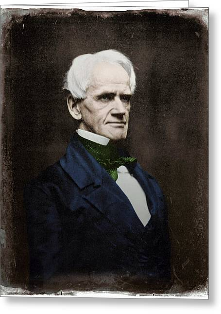 Abolition Movement Greeting Cards - Horace Mann (1796-1859) Greeting Card by Granger