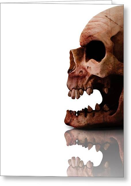 Horror Head Greeting Card by Jorgo Photography - Wall Art Gallery