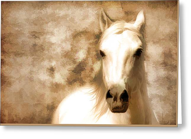 Horse Whisper Greeting Card by Athena Mckinzie