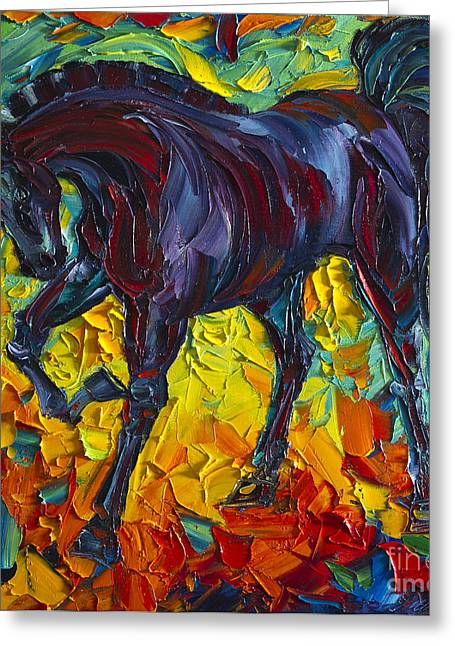 Print On Canvas Greeting Cards - Horse Greeting Card by Willson Lau