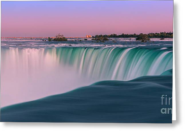Acryl Greeting Cards - Horseshoe Falls is a part of the Niagara Falls Greeting Card by Henk Meijer Photography