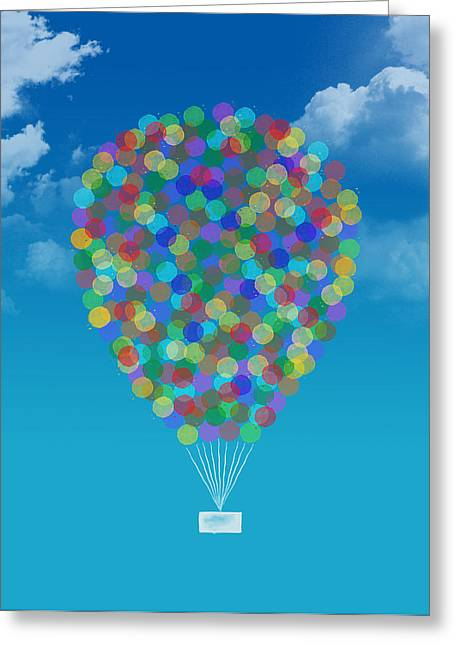 Art Decor Greeting Cards - Hot air balloon Greeting Card by Aged Pixel