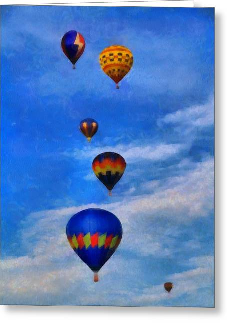 American Tradition Greeting Cards - Hot Air Balloons Greeting Card by Dan Sproul