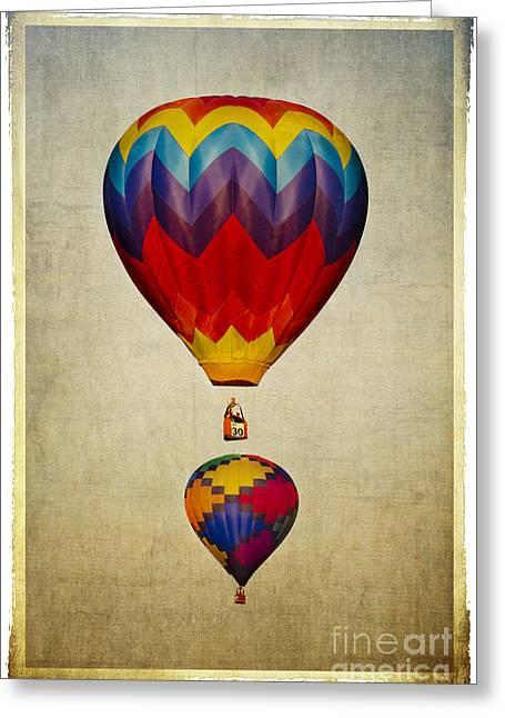 Baloon Greeting Cards - Hot Air Balloons Greeting Card by Elena Nosyreva