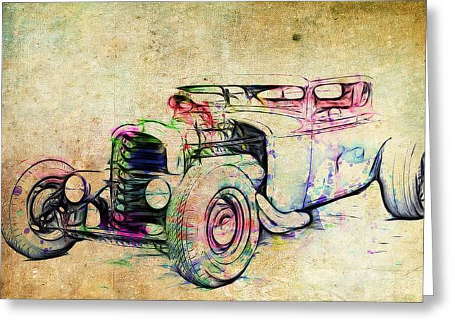 Graffitti Coupe Greeting Cards - Hot Rod Art Greeting Card by Steve McKinzie