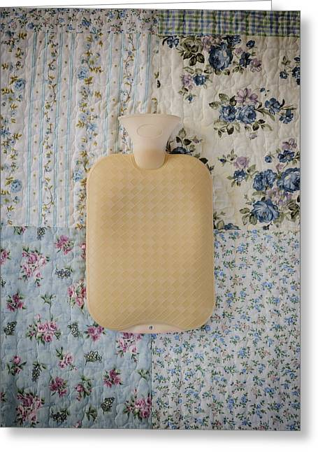 Hot Water Greeting Cards - Hot-water Bottle Greeting Card by Joana Kruse