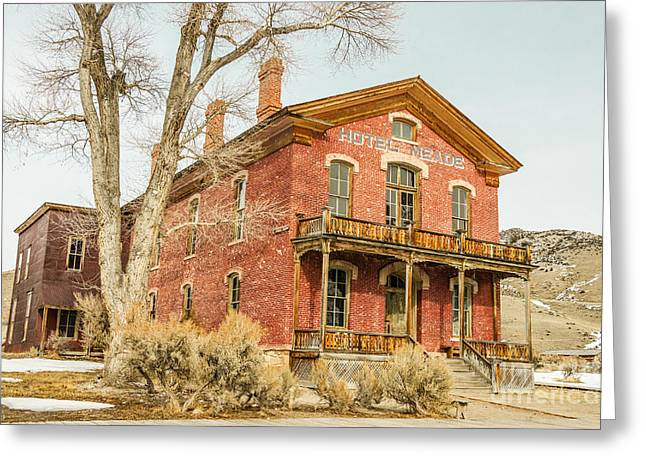 Hotel Meade Greeting Card by Sue Smith