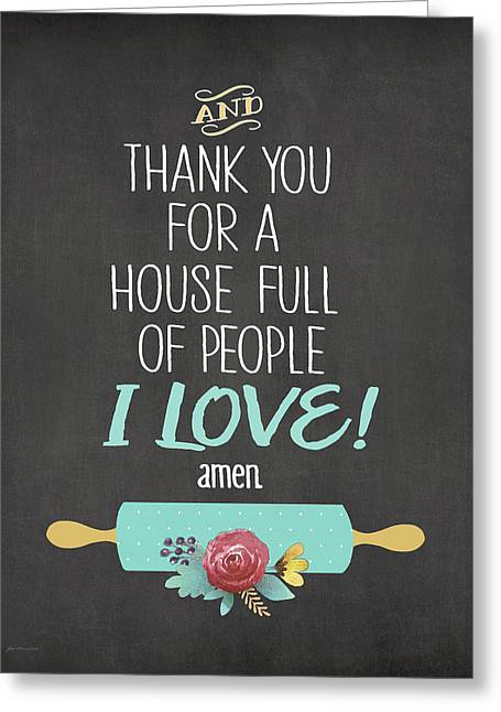 House Full Of Love Greeting Card by Jo Moulton