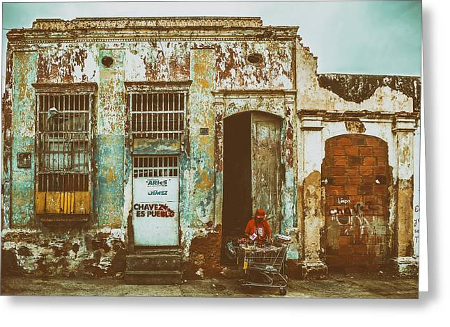 Shopping Cart Greeting Cards - House in Maracaibo Venezuela Greeting Card by Mountain Dreams