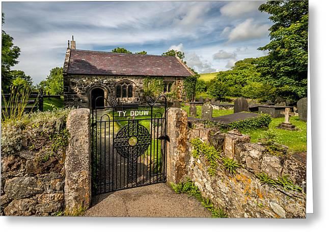 Graveyard Digital Greeting Cards - House of God Greeting Card by Adrian Evans