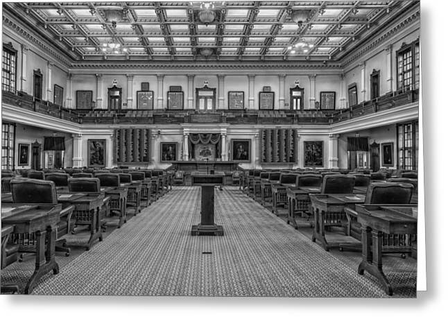 Elect Greeting Cards - House of Representatives - Texas State Capitol Greeting Card by Mountain Dreams