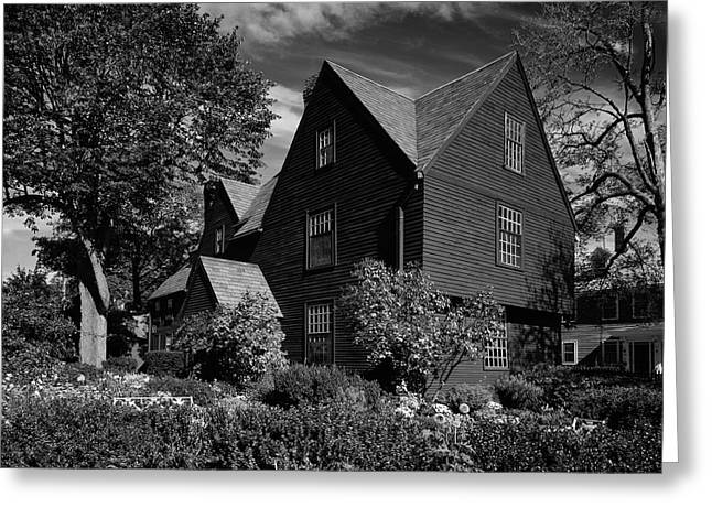 House Gable Greeting Cards - House of Seven Gables Greeting Card by Mountain Dreams