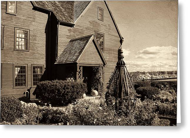 Historic England Greeting Cards - House Of The Seven Gables Greeting Card by Lourry Legarde