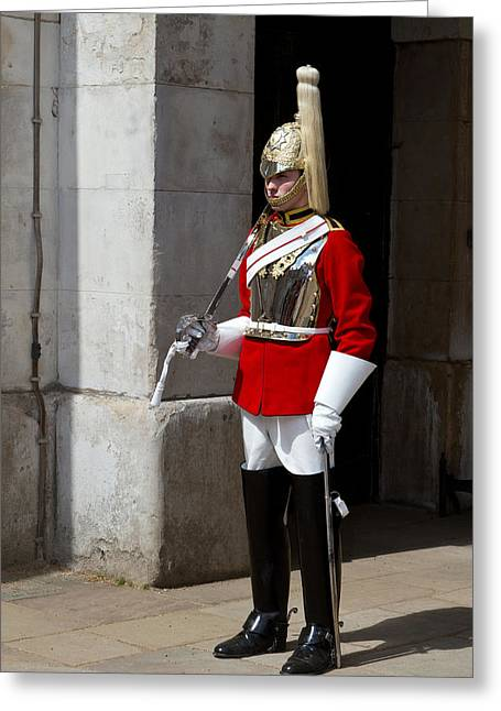 British Royalty Greeting Cards - Household Cavalry Greeting Card by Fizzy Image