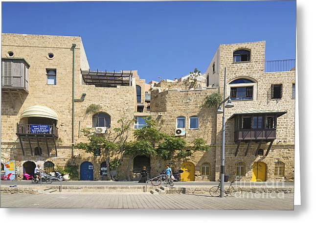 Yafo Greeting Cards - Houses In Jaffa Tel Aviv Israel Greeting Card by Jacek Malipan