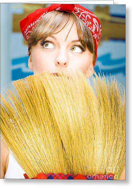 Housewife Greeting Card by Jorgo Photography - Wall Art Gallery