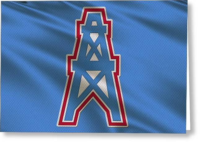 Team Greeting Cards - Houston Oilers Uniform Greeting Card by Joe Hamilton
