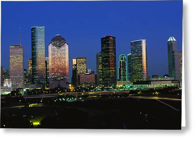 Eve Greeting Cards - Houston Tx Greeting Card by Panoramic Images