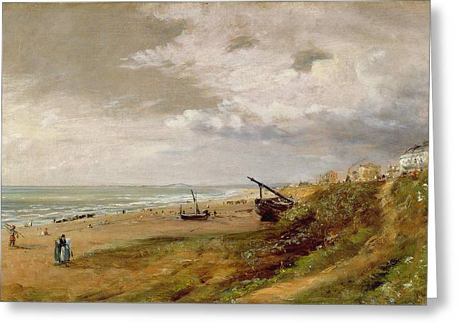 Promenade Greeting Cards - Hove Beach Greeting Card by John Constable