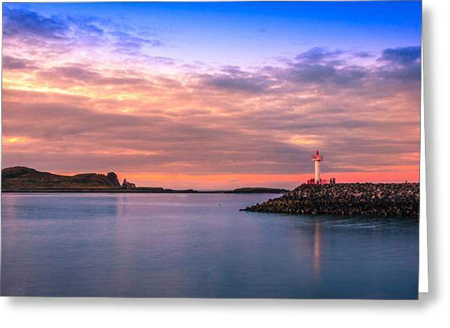 Sunset Prints Of Ireland Greeting Cards - Howth Sunset Greeting Card by John Hurley