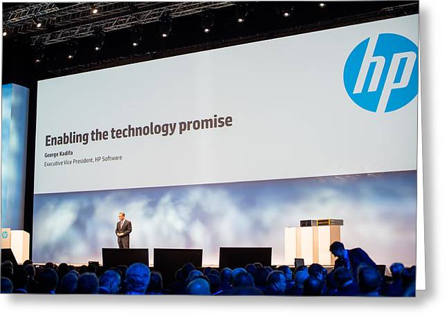 Discover Enterprise Greeting Cards - HP Execute Vice President Dave Donatelli Greeting Card by Frank Gaertner