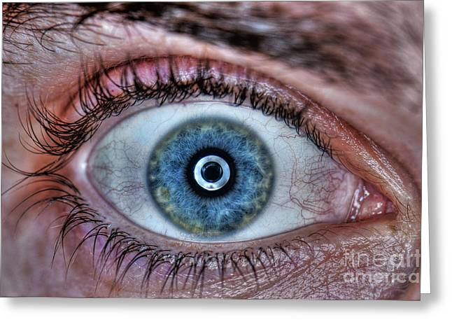 Tone Mapped Greeting Cards - Human Eye Greeting Card by Guy Viner