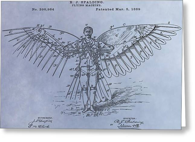 Human Flight Patent Greeting Card by Dan Sproul