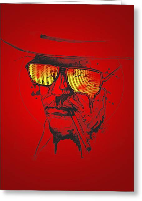 Figure Digital Art Greeting Cards - Hunter S. Thompson Greeting Card by Pop Culture Prophet