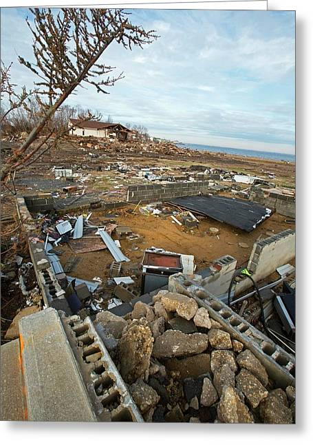 Hurricane Sandy Damage Greeting Card by Jim West