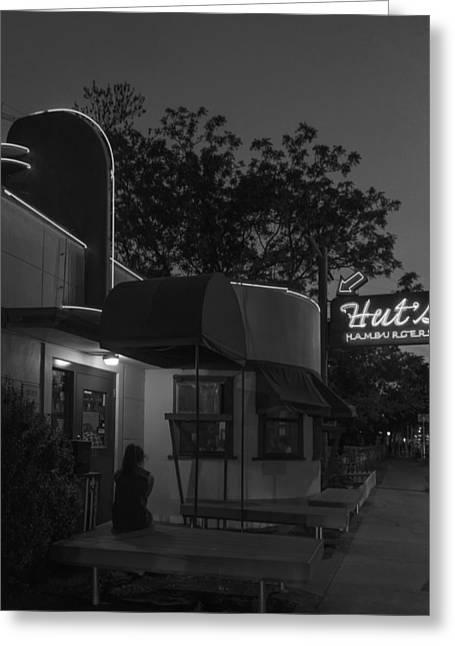 Hut's Hamburgers Greeting Card by Mountain Dreams