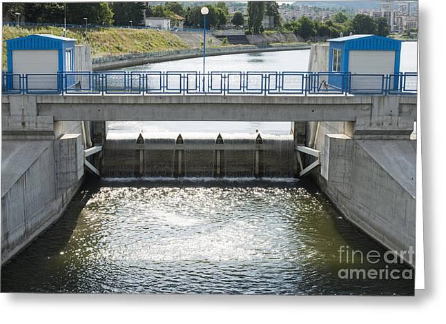 Generators Greeting Cards - Hydroelectric power station Greeting Card by Deyan Georgiev