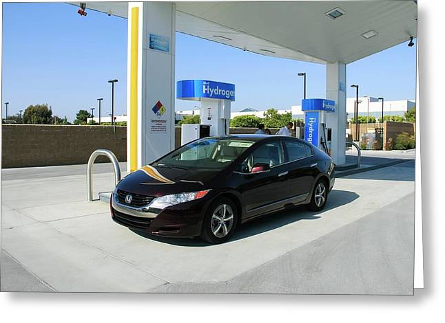 Hydrogen Fuelling Station Greeting Card by Michael Penev/us Department Of Energy