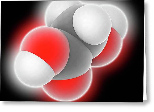 Hydroxyacetic Acid Molecule Greeting Card by Laguna Design