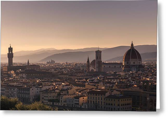 Italian Landscapes Greeting Cards - I adore you.. Greeting Card by A Rey