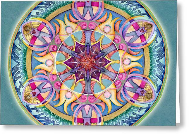 I Am Enough Mandala Greeting Card by Jo Thomas Blaine