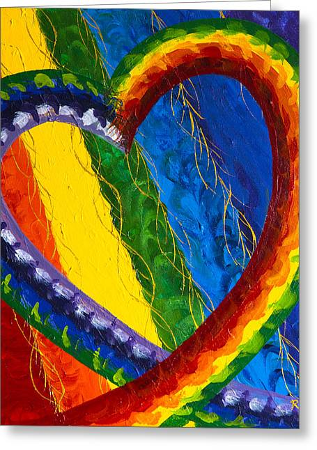 Indigo Chakra Greeting Cards - I AM Love Greeting Card by Judy M Watts-Rohanna