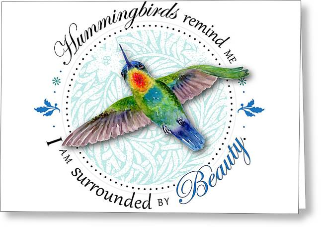 Centric Greeting Cards - I am surrounded by beauty Greeting Card by Amy Kirkpatrick