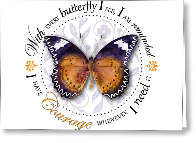 Courage Paintings Greeting Cards - I have courage whenever I need it Greeting Card by Amy Kirkpatrick