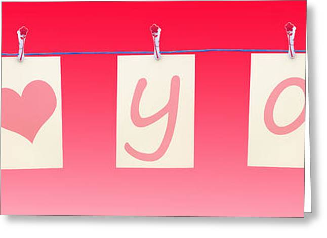 Blank Card Greeting Cards - I Heart You Greeting Card by Semmick Photo