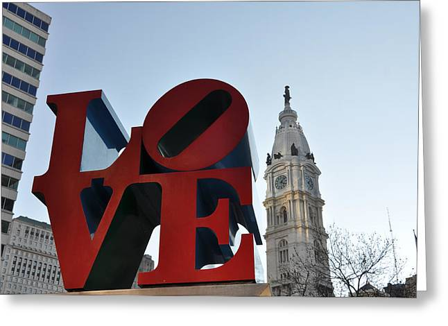 Cityhall Greeting Cards - I Love Philadelphia Greeting Card by Bill Cannon