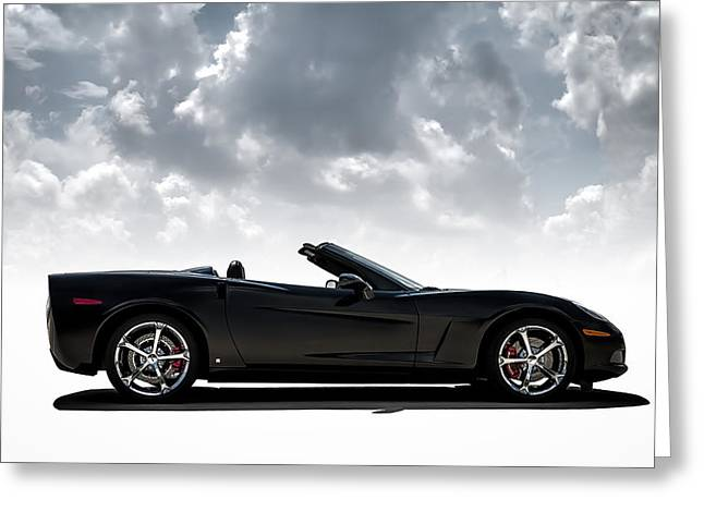 Sportscar Greeting Cards - I Take Mine Black Greeting Card by Douglas Pittman