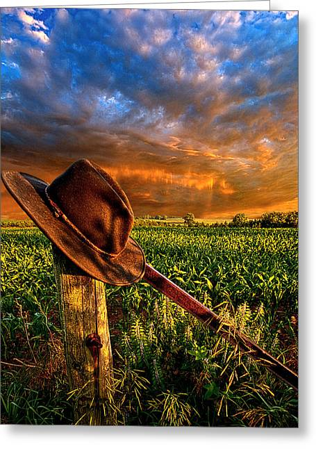 Cowboy Hat Photographs Greeting Cards - I Was Here Greeting Card by Phil Koch