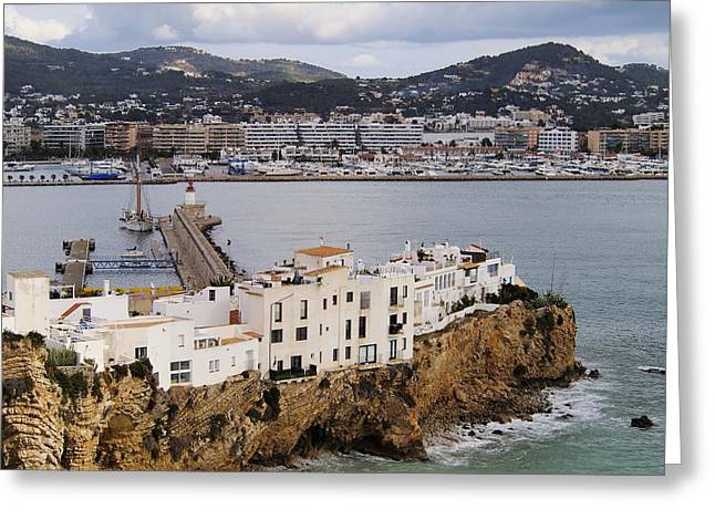 Dalt Greeting Cards - Ibiza Town Greeting Card by Karol Kozlowski