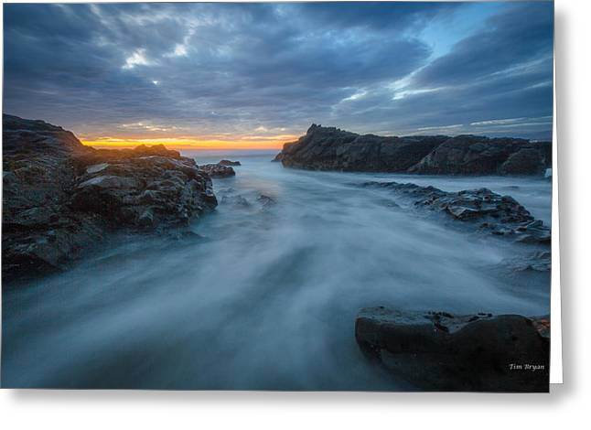Cambria Greeting Cards - Ice Blue......... Cambria Greeting Card by Tim Bryan