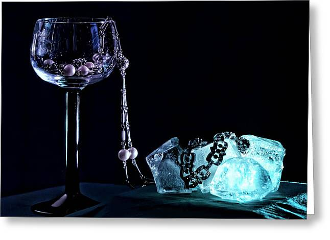 Goblet Greeting Cards - Ice Greeting Card by Camille Lopez